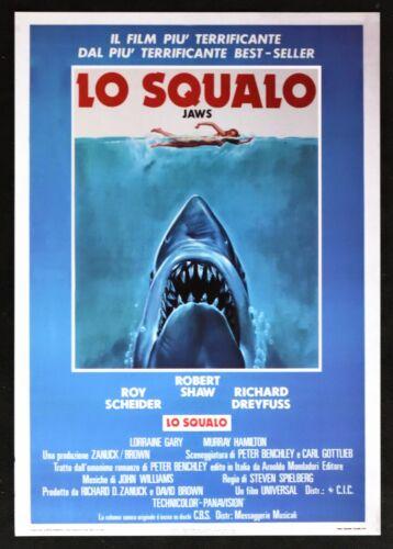 : Lo Squalo Steven Spielberg Roy Scheider Robert Shaw Poster Cinema PP3