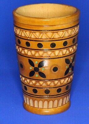 Russia Russian treen wooden Becker /cup, H:10cm     *[20795]