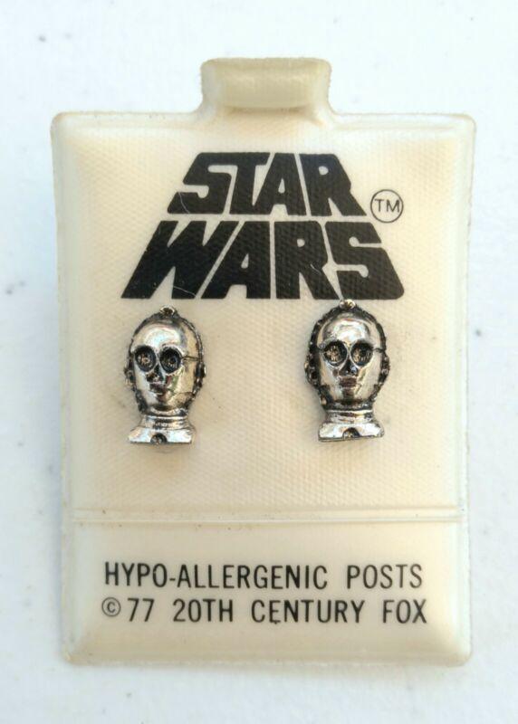 STAR WARS See Threepio C3PO EARRINGS - 1977