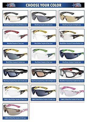 Bolle Rush Plus Safety Glasses Sunglasses Ansi Z87 Work Eyewear Choose Color
