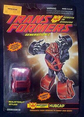 Transformers G2 Minibot Hubcap Sealed MOSC 1992