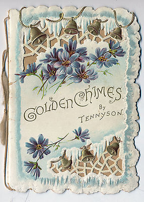 c1900 Golden Chimes by Tennyson Raphael Tuck Emb. Victorian Christmas Booklet