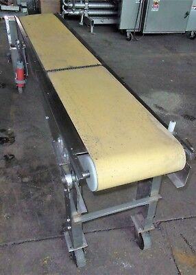 14 Inch X 96 Inch Stainless Steel Sanitary Belt Conveyor