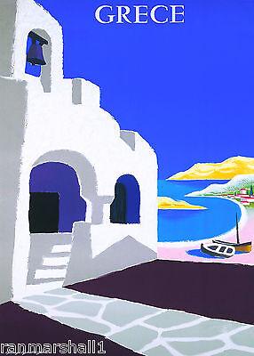Greece Greek Isle Island Europe European Vintage Travel Advertisement Poster