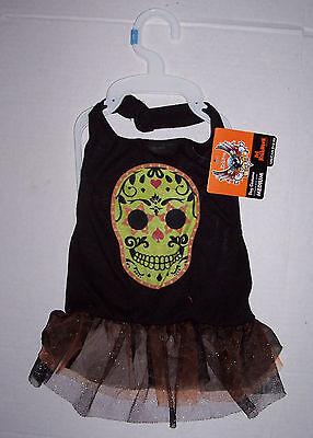 Bret Michaels Dog Halloween Costumes (NWT Bret Michaels Skull Dress Dog Costume Medium)