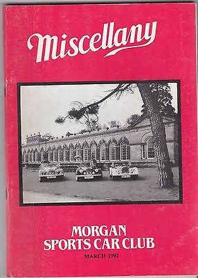 MISCELLANY MORGAN SPORTS CAR CLUB MAGAZINE MARCH 1992 POST FREE
