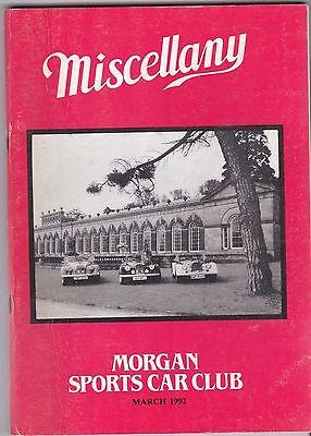 MISCELLANY MORGAN SPORTS CAR CLUB MAGAZINE MARCH 1992 POST FREE