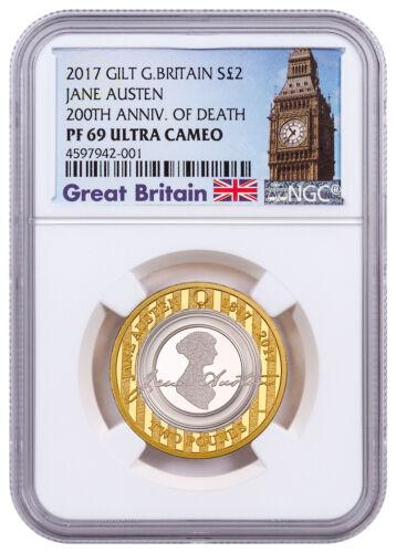 2017 Great Britain Enduring Romance w/Austen Silver Gilt £2 NGC PF69 UC SKU49186