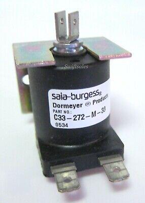 Saia-burgess Dormeyer C33-272-m-33 12vdc C-frame Linear Pull-type Solenoid