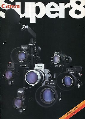 Katalog/Prospekt CANON SUPER8 Deutsche Ausgabe 1977 [8mm brochure/catalogue]