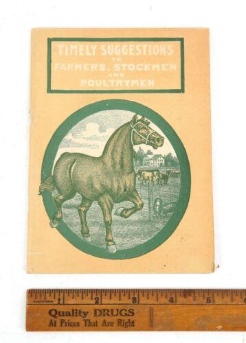 1900s Prussian Remedy Company Handbook for Farmers,Stockmen,Poultrymen St.Paul