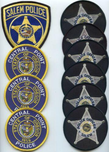 CENTRAL POINT SALEM OREGON Patch Lot Trade Stock 10 Police Patches POLICE PATCH
