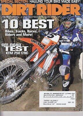 DIRT RIDER - March 2002  10 Best / Bike of the Year / KTM 250 E/XC / KX250 & (Best 250 Motocross Bike)