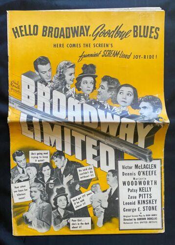 Original Pressbook/BROADWAY LIMITED/1941/A Hal Roach Film