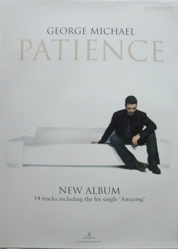"GEORGE MICHAEL ""PATIENCE"" THAILAND PROMO POSTER - George Sitting On Couch"