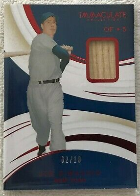2020 Immaculate JOE DiMAGGIO #52 Game Used Bat Relic 02/15 New York Yankees