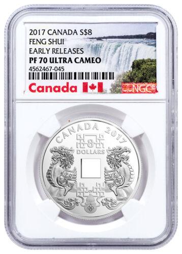 2017 Canada Feng Shui Good Luck Charms 2/3 oz Silver $8 NGC PF70 UC ER SKU48613