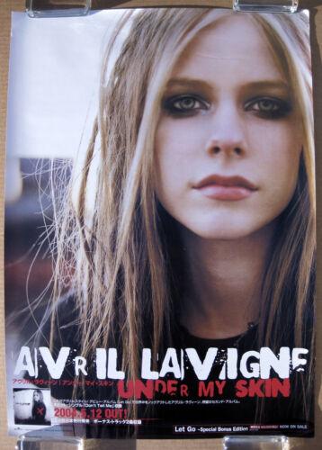 AVRIL LAVIGNE Under My Skin 2004 JAPAN promo Only POSTER Chantal Kreviazuk MINTY