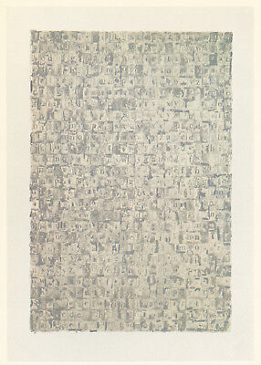"Jasper Johns ""Gray Alphabets"" 1968"