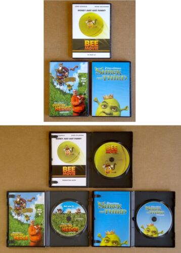 SHREK THE THIRD Bee Movie OVER THE HEDGE Lot of 3 DREAMWORKS CD PRESS KITS