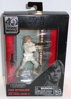 Star Wars Luke Skywalker the black series titanium die cast 40th anniversary