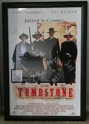 Justice Is Coming Kurt Russell Val Kilmer 24x36 Movie Poster 1993 Tombstone