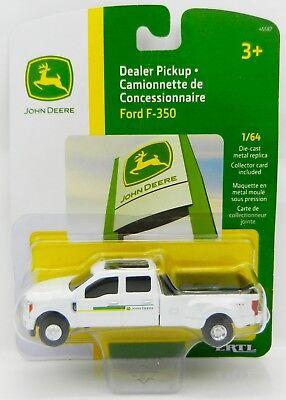 - ERTL 1:64 JOHN DEERE 2017 Ford F-350 Crew Cab DUALLY Pickup Dealership Truck NIP