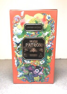 Patron Silver Tequila 2019 Chinese New Year Tin Limited Edition Container