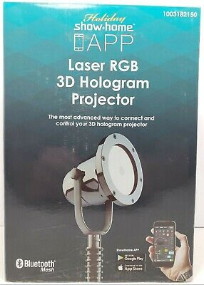 Holiday Show Home™ App Controlled Laser RGB 3D Seasonal Hologram - Halloween 3d Projector