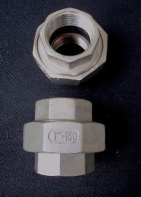 Un-100 Stainless Steel Union 1 Npt Pipe Split Coupling