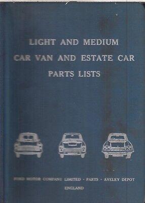 FORD ANGLIA SALOON ESTATE & VAN '59- ORIGINAL FACTORY PARTS CATALOGUE *HARDBACK*