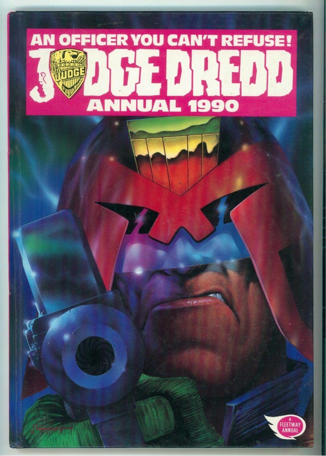 JUDGE DREDD ANNUAL 1990 FLEETWAY PUBLICATIONS 1989