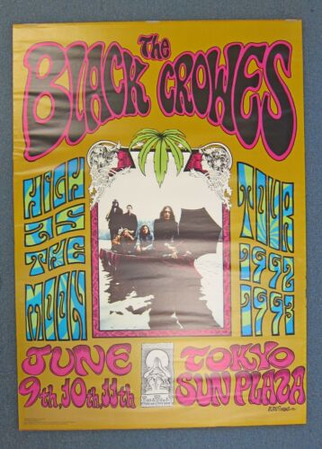 Black Crowes High As The Moon Original Tour Poster Rolled 1992 Alan Forbes Rare!