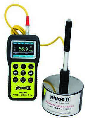 Phase Ii Pht-1900 Portable Hardness Tester 200-960 Hl 100 Mem Cap