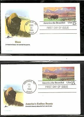 US SC # UY39-UX120 American Buffalo and Prairie  FDC. Fleetwood Cachet
