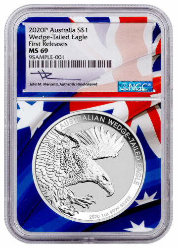 2020 P $1 1 oz Silver Wedge-Tailed Eagle NGC MS69 FR Mercanti PRESALE SKU60451
