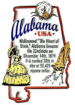 Alabama The Heart Of Dixie State Outline Montage Fridge Magnet Heart Fridge Magnet