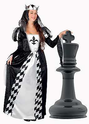 Damen Tudor Kostüm Alice Schach Königin Kostüm Mittelalter 12-14 Deluxe - Tudor Damen Kostüm