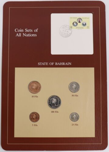 Bahrain - Coin Sets of All Nations Franklin Mint Postal Panel