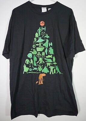 NEW Star Wars Holiday Christmas Tree with Death Star Topper Men's XL T-Shirt