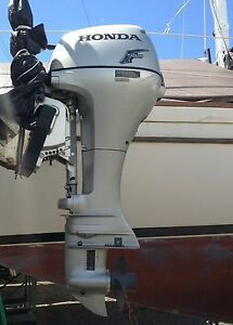 2008 honda 15 hp four stroke outboard motor electric start for 15 hp electric boat motor