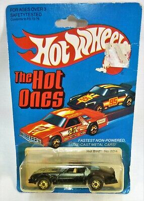 Hot Wheels Hot Bird Pontiac Firebird Gold Wheels MOC Hong Kong #2014 Hot Ones GW