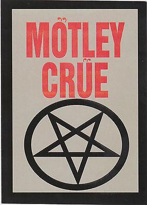 MOTLEY CRUE - PENTAGRAM - STICKER