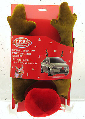 Halloween Costumes For Your Car (Rudolph Car Costume ~  Antlers & Red Nose ~ For Your Car or Truck)