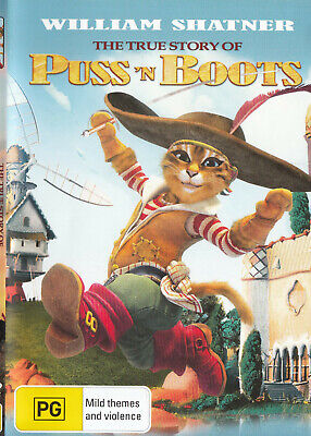 The TRUE STORY OF PUSS IN BOOTS William Shatner DVD R4 PAL New   (The True Story Of Puss In Boots)