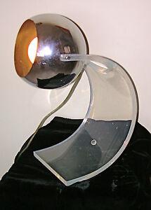 Vintage-ROBERT-SONNEMAN-Chrome-Lucite-LAMP-1960s