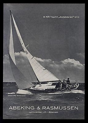 Grosse Werbung 1965 6 KR Yacht ALDEBARAN Abeking & Rasmussen Lemwerder-Bremen