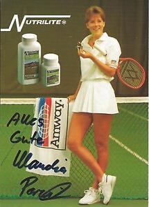 Autogramm Claudia Porwik Tennis eh. Tennisprofi handsigniert 80er 90er AMWAY