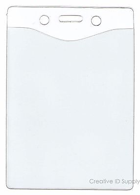 250 Pcs Clear Vinyl Badge Holder Id Card Name Badge - Pick Ur Own Size