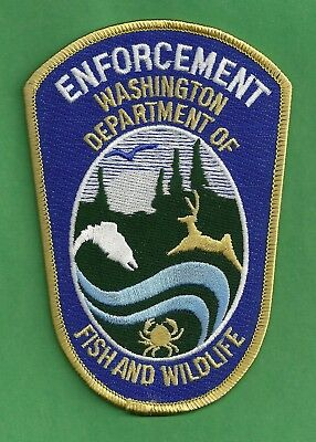 WASHINGTON STATE FISH AND WILDLIFE  ENFORCEMENT POLICE PATCH BLUE